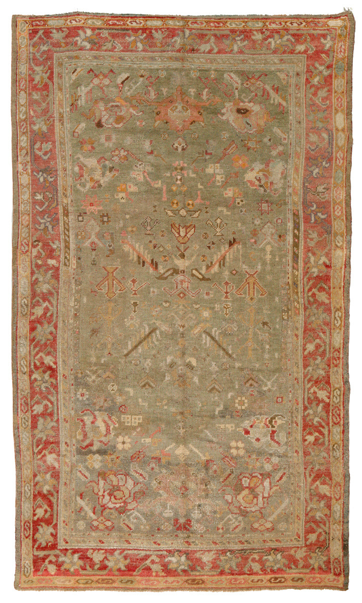 13065 antique oushak rug